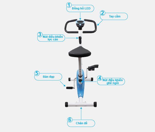 Xe đạp tập thể dục BIKE FITNESS LUXURY