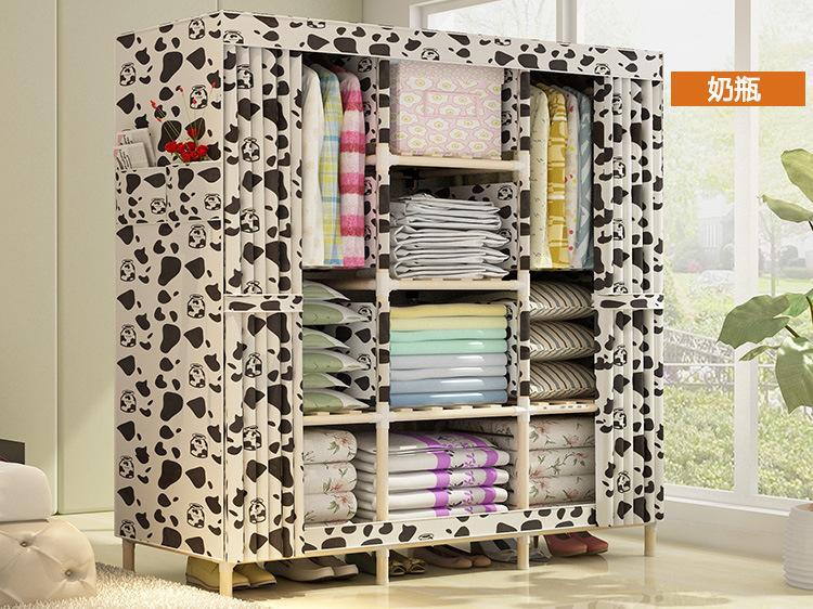 Tủ vải khung gỗ grandview 3 buồng 8 ngăn