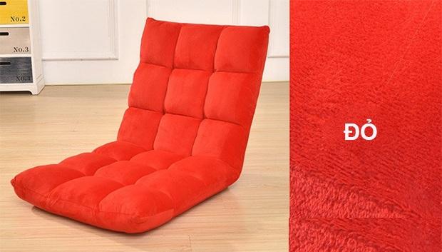 ghế ngồi bệt tatami màu đỏ thẫm