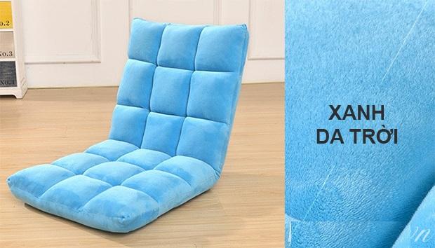 ghế ngồi bệt tatami màu xanh da trời