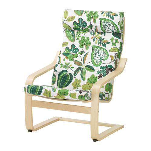 Ghế nghỉ Poang Arm-chair có cấu tạo bằng gỗ bạch dương chắc chắn
