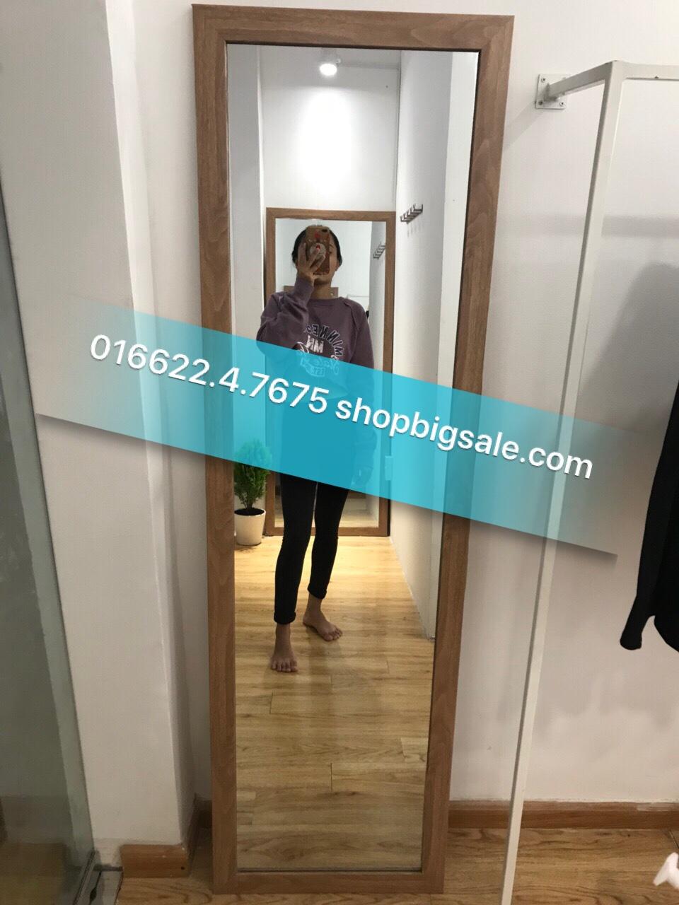 gương toàn thân giả gỗ 50 x 1m6