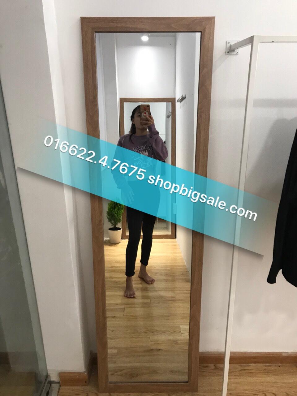 Gương soi toàn thân khung gỗ