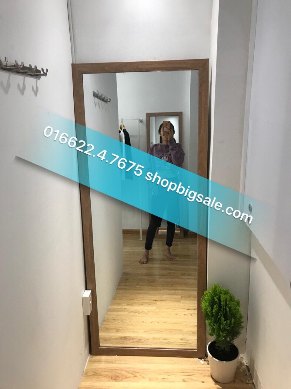 Gương toàn thân nhựa giả gỗ 70 x 1m7